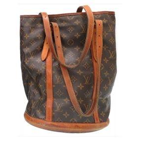 Authentic Louis Vuitton Bucket Bag Tote Large